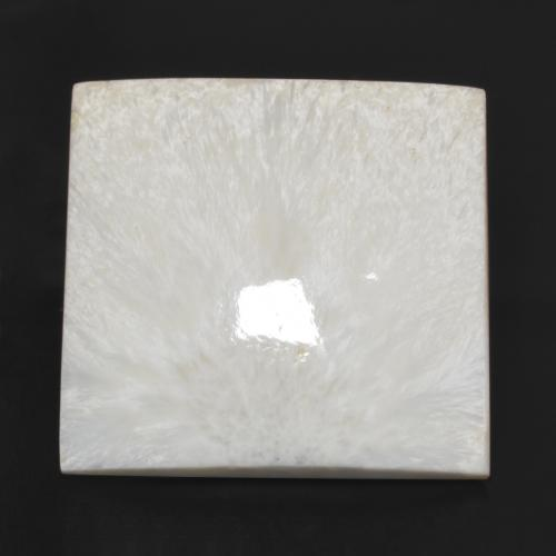Warm White Scolecite Gem - 80ct Square Cabochon (ID: 472810)