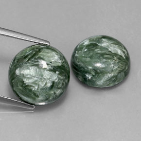 Buy 10.07 ct Green Seraphinite 12.01 mm  from GemSelect (Product ID: 317092)