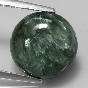 4.68 ct Natural Green Seraphinite