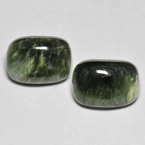 Green Seraphinite Gem - 5.8ct Cushion Cabochon (ID: 323873)