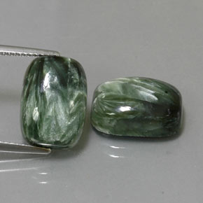 Green Seraphinite Gem - 7.2ct Cushion Cabochon (ID: 323974)