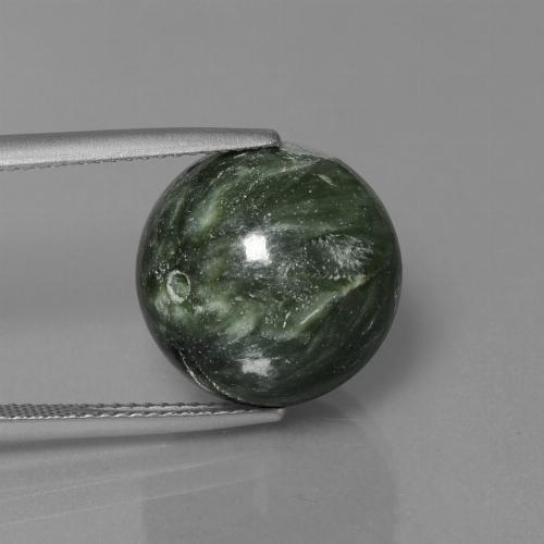 Green Seraphinite Gem - 19.7ct Drilled Sphere (ID: 447356)