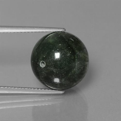 Green Seraphinite Gem - 17.6ct Drilled Sphere (ID: 447357)