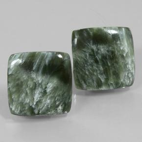 Green Seraphinite Gem - 11.3ct Square Cabochon (ID: 502078)