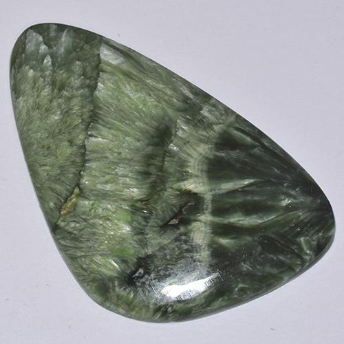 Green Seraphinite Gem - 21.4ct Fancy Cabochon (ID: 514357)