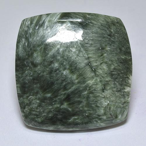 Green Seraphinite Gem - 21.7ct Cushion Cabochon (ID: 514378)