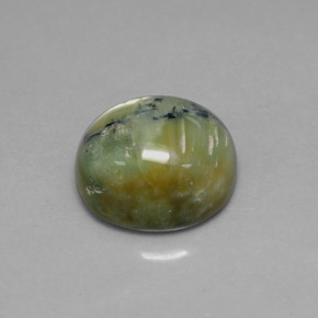 Buy 5.08 ct Yellowish Green Serpentine 12.18 mm x 10.5 mm from GemSelect (Product ID: 303594)