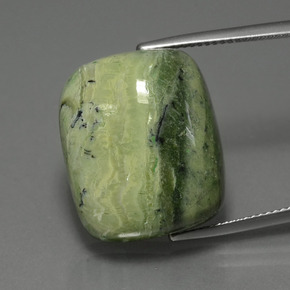 22.7ct Cushion Cabochon Green Serpentine Gem (ID: 403218)