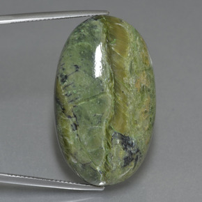 46.5ct Oval Cabochon Green Serpentine Gem (ID: 403238)