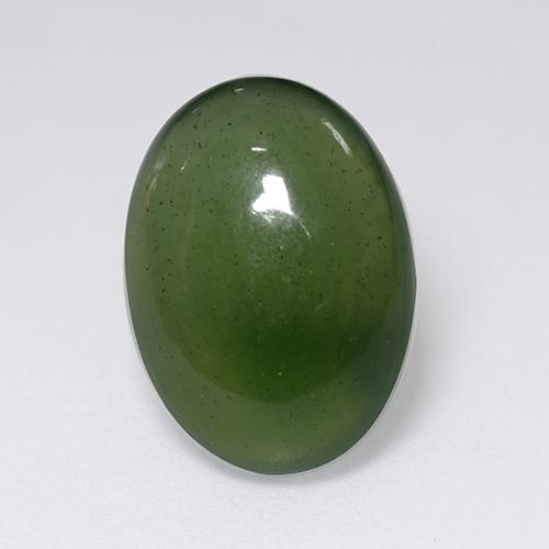 Green Serpentine Gem - 8.2ct Oval Cabochon (ID: 469591)