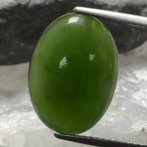 7.5ct Oval Cabochon Green Serpentine Gem (ID: 469771)