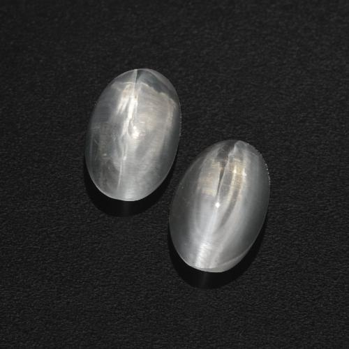Smoke Sillimanite Cat's Eye Gem - 1ct Oval Cabochon (ID: 409974)