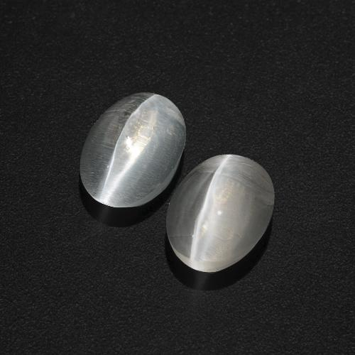 Smoke Sillimanite Cat's Eye Gem - 1.2ct Oval Cabochon (ID: 409988)