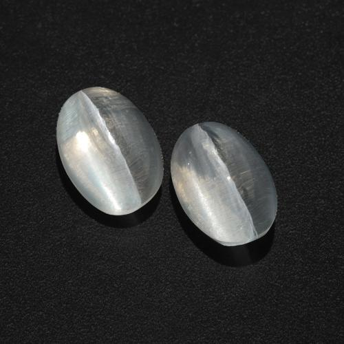 Smoke Sillimanite Cat's Eye Gem - 1.5ct Oval Cabochon (ID: 409989)