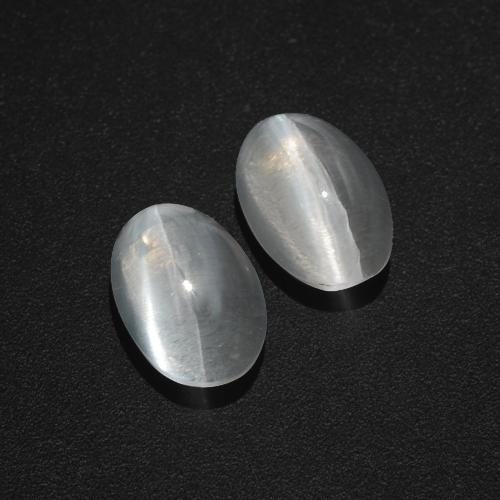 Smoke Sillimanite Cat's Eye Gem - 1.4ct Oval Cabochon (ID: 409993)