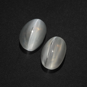 Smoke Sillimanite Cat's Eye Gem - 1.5ct Oval Cabochon (ID: 409997)