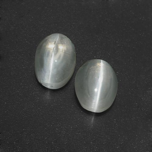 Smoke Sillimanite Cat's Eye Gem - 1.5ct Oval Cabochon (ID: 410059)
