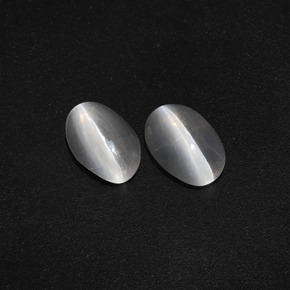 Smoke Sillimanite Cat's Eye Gem - 1.3ct Oval Cabochon (ID: 410073)