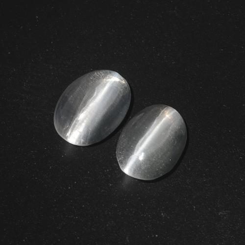 Smoke Sillimanite Cat's Eye Gem - 1.3ct Oval Cabochon (ID: 410079)