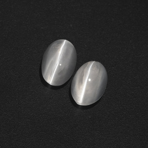 Smoke Sillimanite Cat's Eye Gem - 1.2ct Oval Cabochon (ID: 410082)