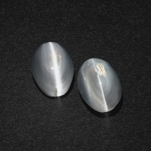 Smoke Sillimanite Cat's Eye Gem - 1.2ct Oval Cabochon (ID: 410182)