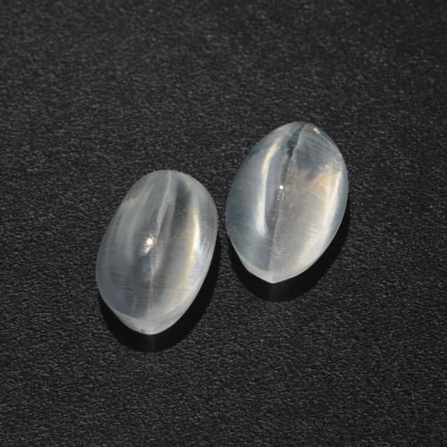 Smoke Sillimanite Cat's Eye Gem - 1ct Oval Cabochon (ID: 410302)