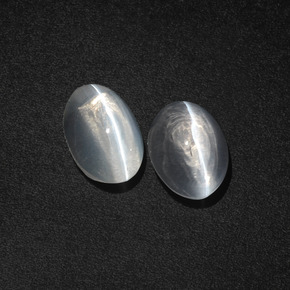 Smoke Sillimanite Cat's Eye Gem - 1.6ct Oval Cabochon (ID: 410340)