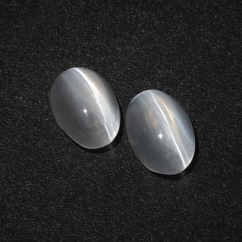 Smoke Sillimanite Cat's Eye Gem - 1.2ct Oval Cabochon (ID: 410344)