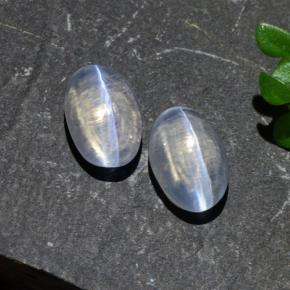 Smoke Sillimanite Cat's Eye Gem - 1.2ct Oval Cabochon (ID: 474176)