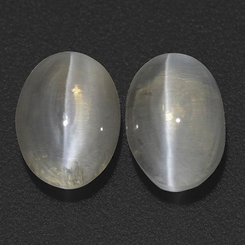 Brownish Gray Sillimanite Cat's Eye Gem - 1.4ct Oval Cabochon (ID: 474178)