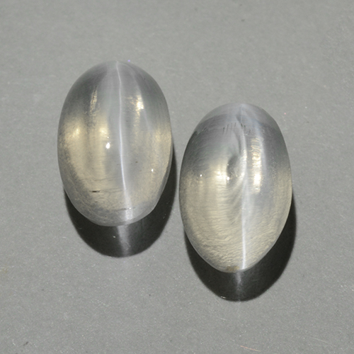 Smoke Sillimanite Cat's Eye Gem - 0.9ct Oval Cabochon (ID: 499383)