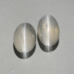 Smoke Sillimanite Cat's Eye Gem - 0.9ct Oval Cabochon (ID: 499387)
