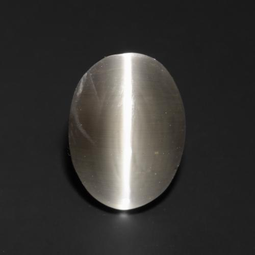 Light Brown Sillimanite Cat's Eye Gem - 1ct Oval Cabochon (ID: 537018)