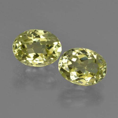 2.1ct Oval Facet Green Yellow Sillimanite Gem (ID: 411274)