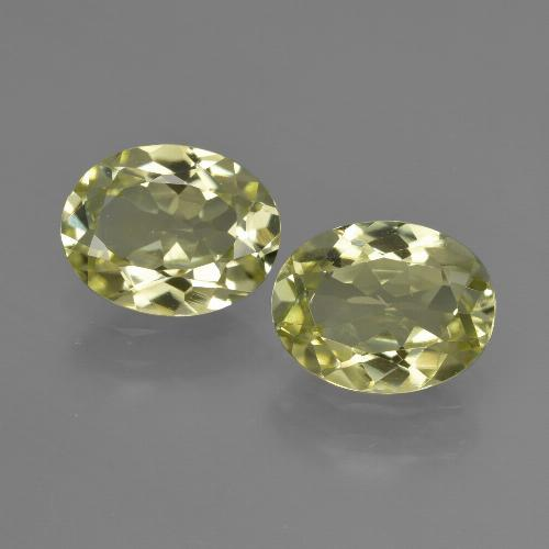 1.7ct Oval Facet Green Yellow Sillimanite Gem (ID: 411276)