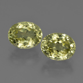 2.5ct Oval Facet Medium Yellow Sillimanite Gem (ID: 411297)