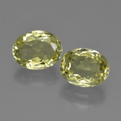 2.2ct Oval Facet Green Yellow Sillimanite Gem (ID: 411302)