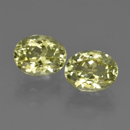 2.3ct Oval Facet Green Yellow Sillimanite Gem (ID: 411304)