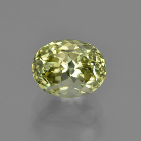 Green Yellow Sillimanite Gem - 3.1ct Oval Facet (ID: 411329)