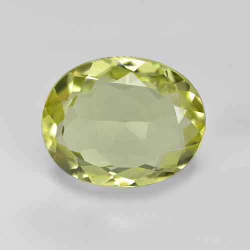 3ct Oval Facet Green Yellow Sillimanite Gem (ID: 411333)