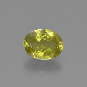1.9ct Oval Facet Pineapple yellow Sillimanite Gem (ID: 411365)