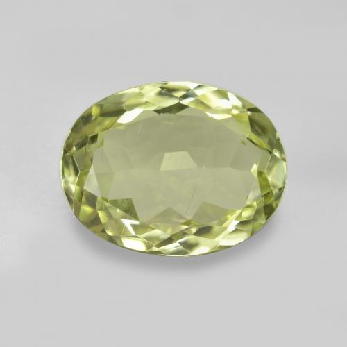 2ct Oval Facet Medium Yellow Sillimanite Gem (ID: 411366)