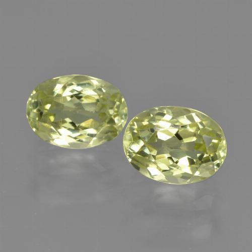 1.6ct Oval Facet Lemon Yellow Sillimanite Gem (ID: 411369)