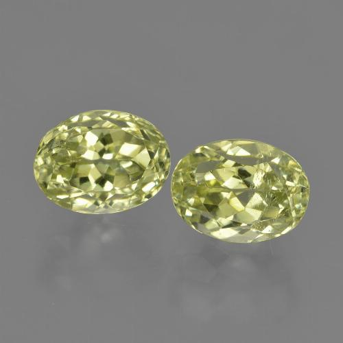 2ct Oval Facet Medium Yellow Sillimanite Gem (ID: 411372)