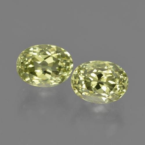 1.8ct Oval Facet Yellow Green Sillimanite Gem (ID: 411374)