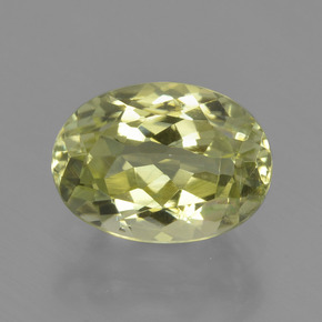 2.1ct Oval Facet Medium Yellow Sillimanite Gem (ID: 411412)