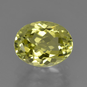2.2ct Oval Facet Medium Yellow Sillimanite Gem (ID: 411413)