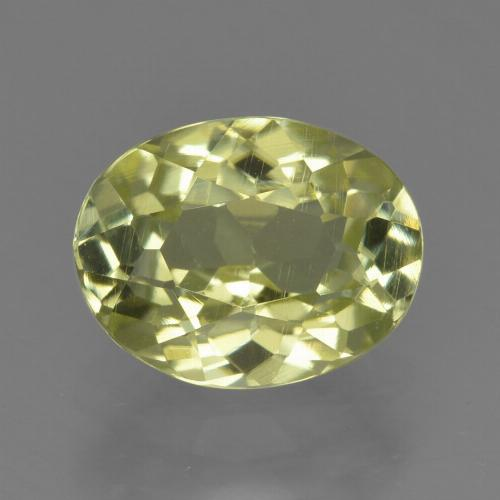 2.2ct Oval Facet Greenish Yellow Sillimanite Gem (ID: 411415)