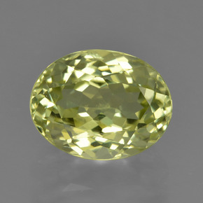 Medium Yellow Sillimanite Gem - 2.5ct Ovale sfaccettato (ID: 411418)