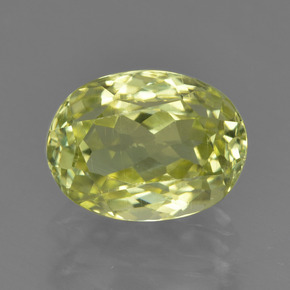 2.3ct Oval Facet Green Yellow Sillimanite Gem (ID: 411420)